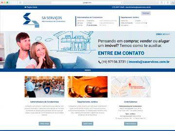 Site institucional e responsivo para administradora de condomínios.