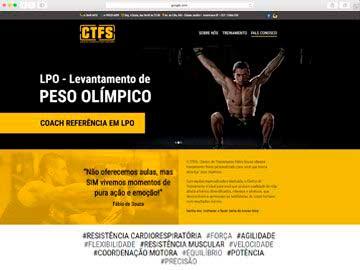 Site institucional e responsivo para o Centro de Treinamento Físico.