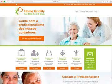 Site institucional e responsivo para cuidadores.