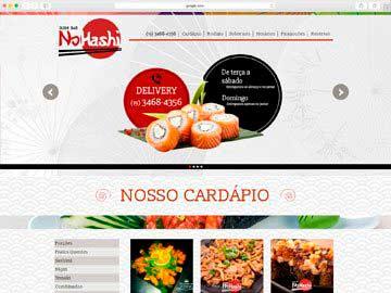 Site institucional, cardápio online, responsivo e dinâmico para restaurante de comida japonesa.