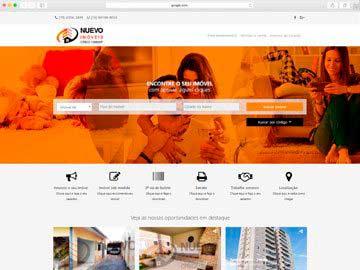 Site institucional e responsivo para imobiliária.