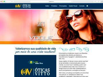 Site institucional e responsivo para ótica.